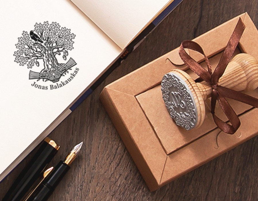 Ex libris Stamp Raven (E-5015)