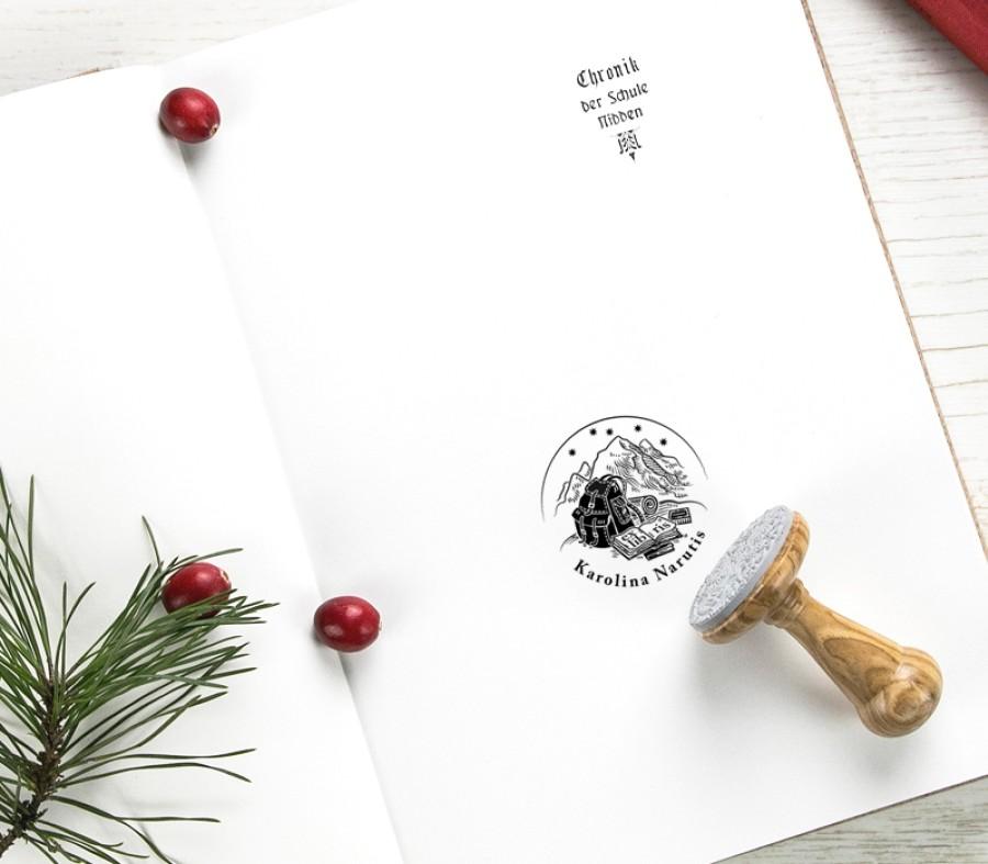 Travel Ex libris Stamp (E-5058)