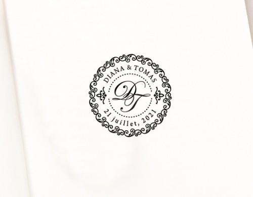Wedding Monogram Stamp (W-5002)