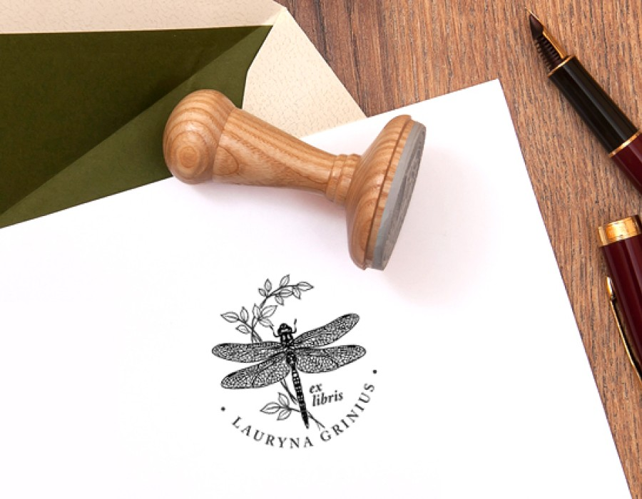 Dragonfly Rubber Stamp (E-5040)