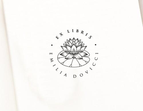 Ex libris Lotus Flower (E-5057)