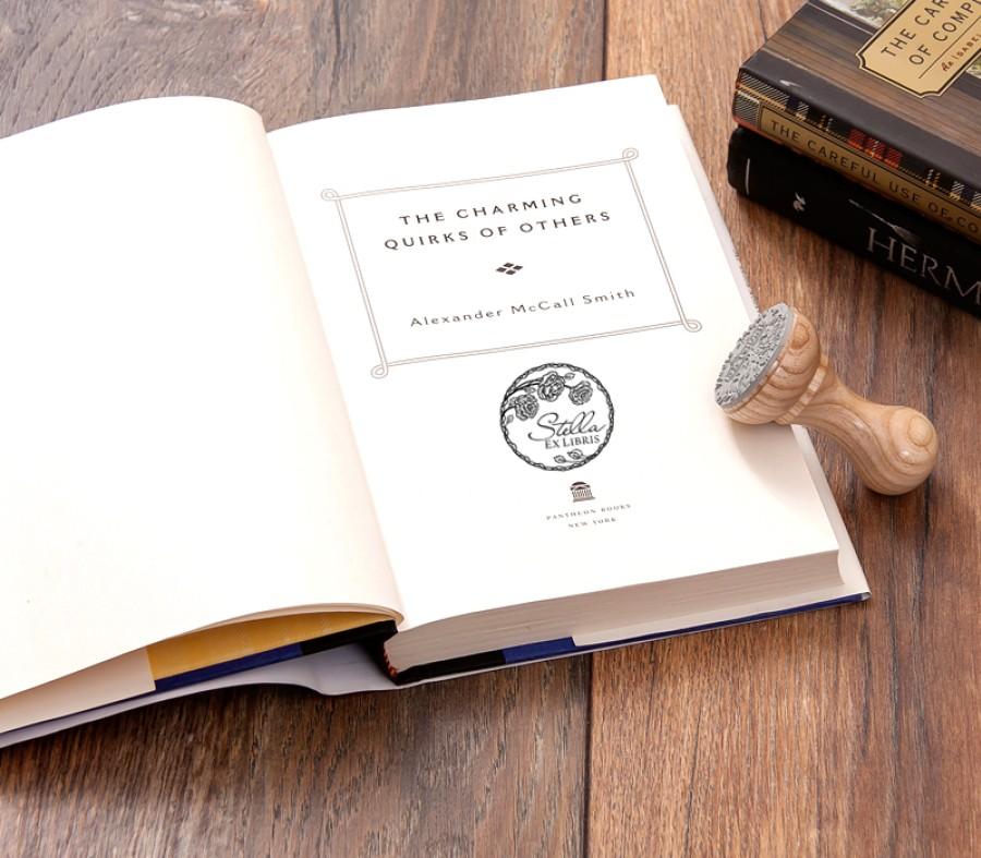 Ex libris Stamp Roses (E-5025)